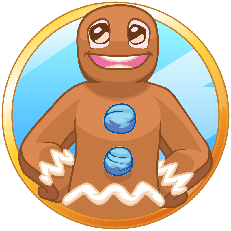 Gingerbread man welcoming you to the Forums!