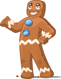 A real life Gingerbread Man!