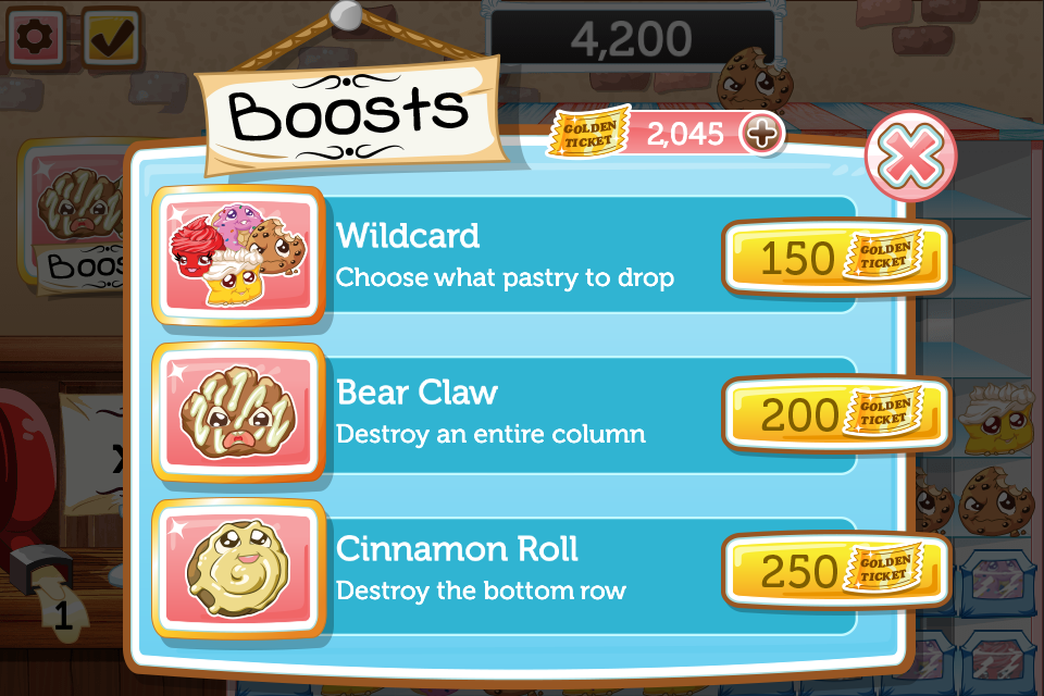 Screen shot from Bake Shop Drop iOS.